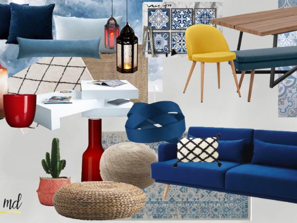 salon marocain deco moderne