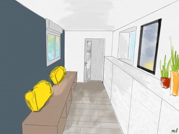 agencement couloir design espace