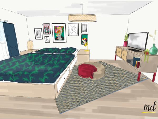 chambre decoration intérieure