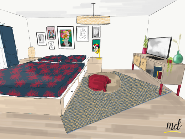 vue petite chambre
