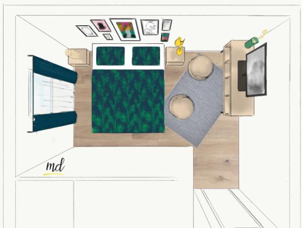 plan agencement petite chambre