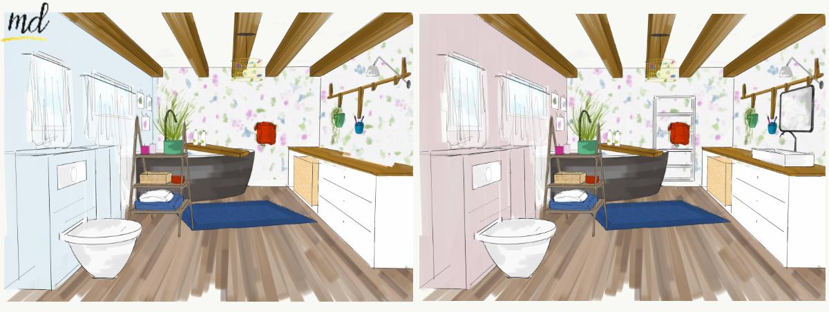 salle de bain couleurs deco
