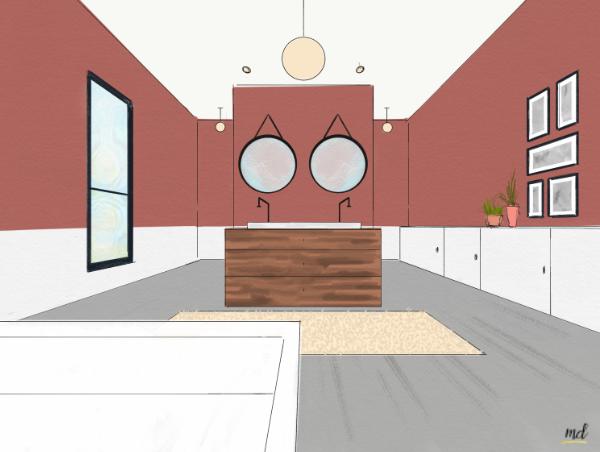salle de bain vintage deco
