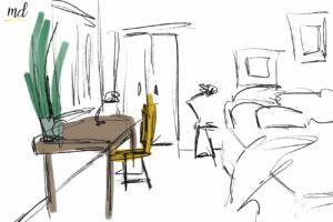 espace bureau chambre